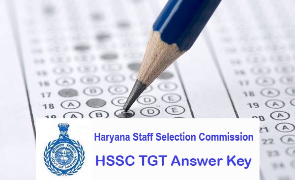 HSSC TGT Answer Key download