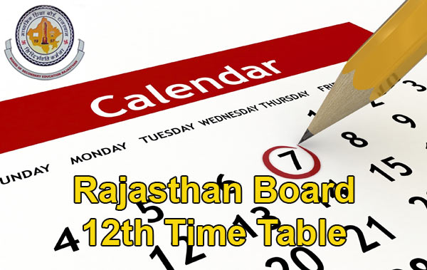 Rajasthan Board 12th Time Table 2016: RBSE Class 12 Date Sheet Download