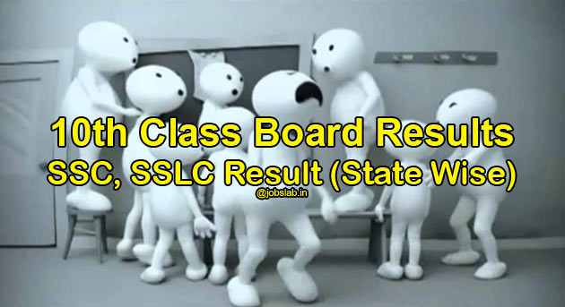 10th Result, Check SSC, SSLC 10th Board Results State Wise