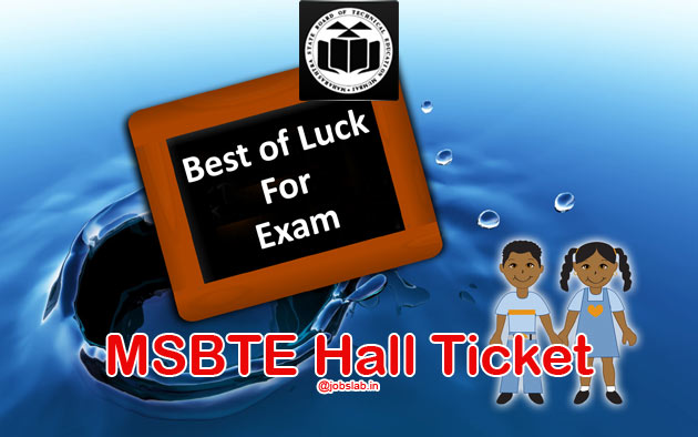 MSBTE Hall Ticket Summer 2016 for Diploma Polytechnic (S16) Exam