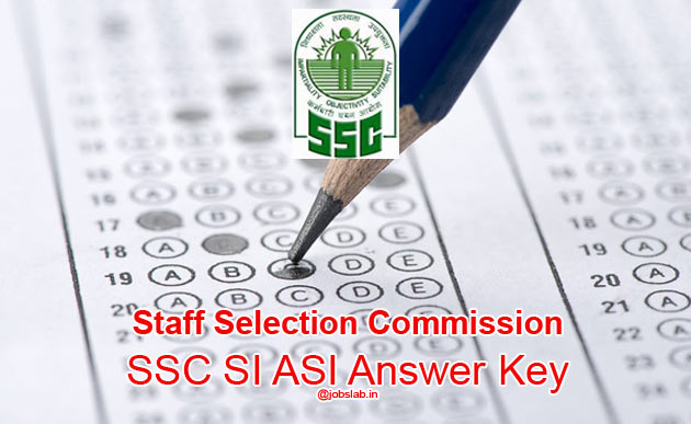 SSC SI ASI Answer Key 2016 Download SSC CPO Paper 1 & 2 Answer Sheet