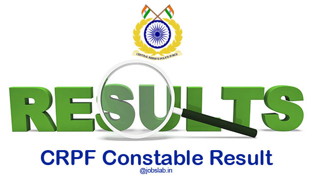CRPF Constable Result 2016 for Technical and Tradesmen Posts Available