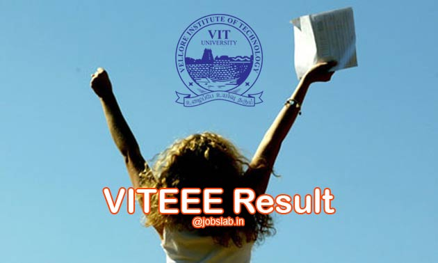VITEEE Result 2016 - Score and Rank List by VIT University
