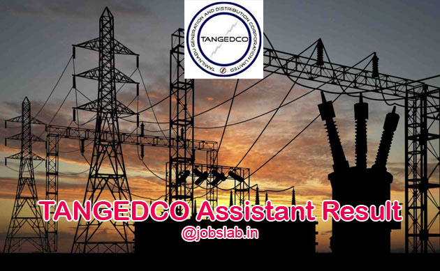 TANGEDCO Assistant Result 2016 Merit List/Cut Off Available