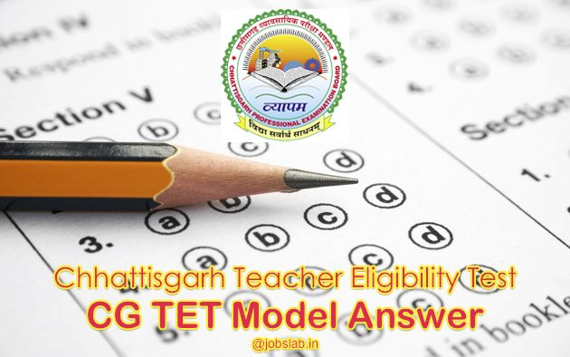 CG TET Model Answer 2019- CG TET Answer Key Available for Download