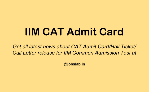 CAT Admit Card 2016 - Download IIM CAT 2016 Admit Card from 18 OCT 2016