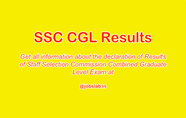 SSC CGL Result available - Check SSC CGLE Results