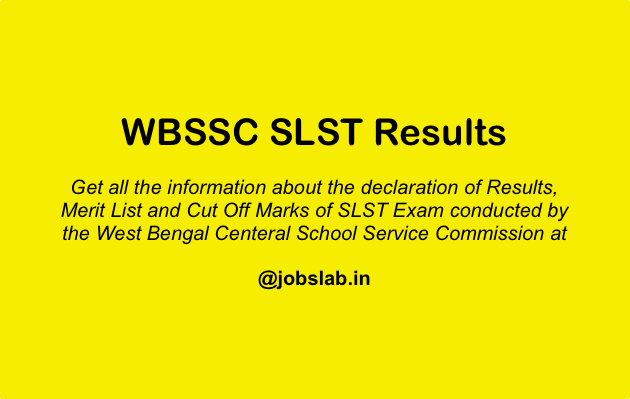 WBSSC SLST Results Check WBSSC SLST Merit List and Cut Off